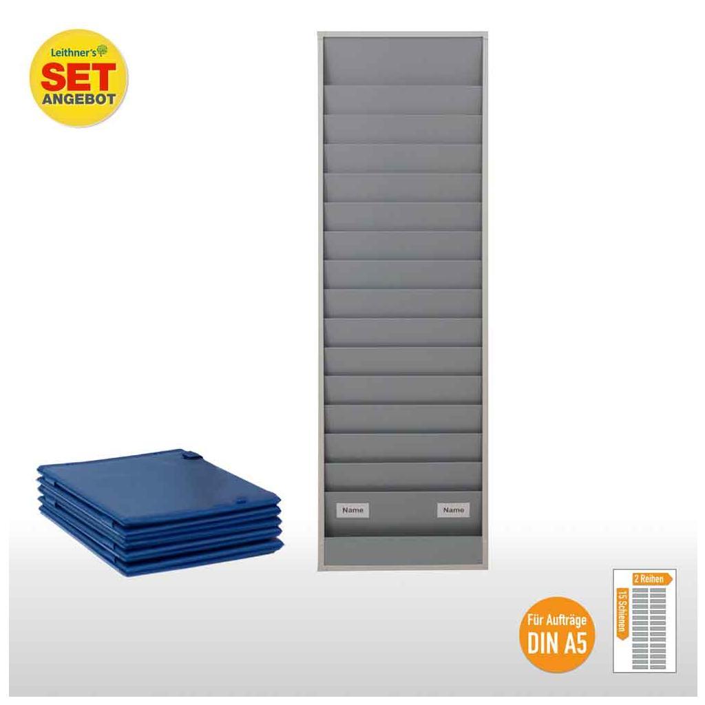 Plantafel-Set - für DIN A5 - für 30 Aufträge + 30 Auftragstaschen