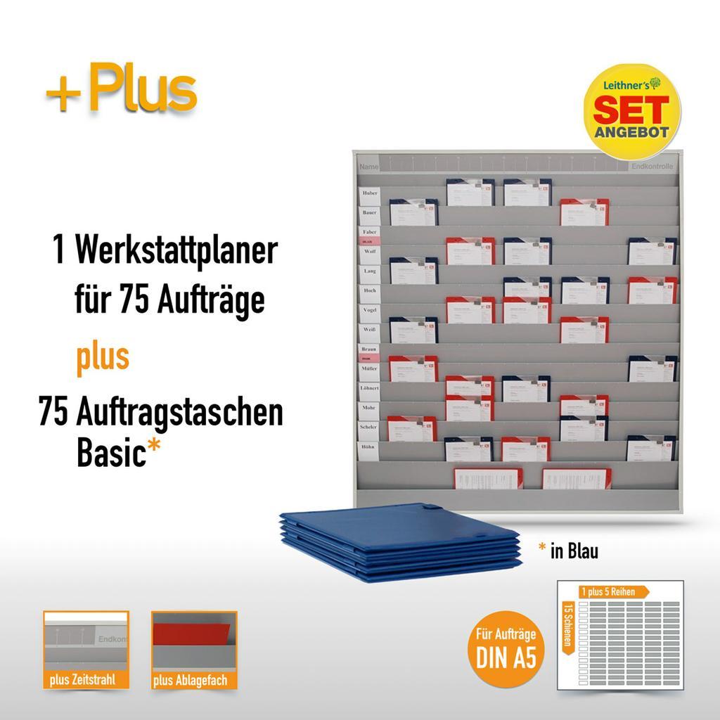 Plantafel-Set - mit Zeitstrahl - für DIN A5 - 75 Aufträge + 80 Taschen