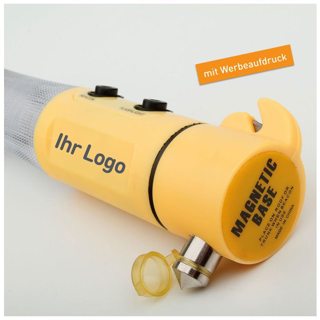 Notfallhammer mit Taschenlampe - Warnlicht - Magnet