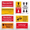 Verpackungsetiketten - verschiedene Versionen