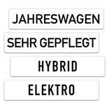 Kennzeichen-Werbeschilder - mit verschiedenen Texten Produktbild