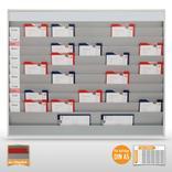 Werkstattplaner groß (für bis zu 50 x DIN A5) mit Beschriftungsmöglichkeit Produktbild
