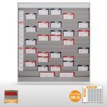 Werkstattplaner groß (für bis zu 75 x  DIN A5) mit Beschriftungsmöglichkeit Produktbild