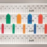 Schmale Planungssignale - für Einstecktafeln - System Visiplan Produktbild