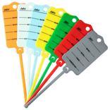 Schlüsselanhänger-Set mit Rasterband (200 Stück + 2 Spezialstifte) Produktbild
