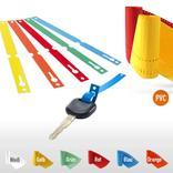 PVC-Schlaufenetiketten auf Rolle - Format 140 x 13 mm (VE 1000) Produktbild