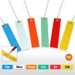 PVC-Hänge-Etiketten mit Draht, Größe 100 x 18 mm (VE = 250 Stck.) Produktbild