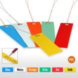 PVC-Hänge-Etiketten mit Draht - Format 120 x 50 mm (VE = 100) Produktbild