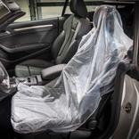 Einweg-Schonbezüge für Autositze transparent Produktbild