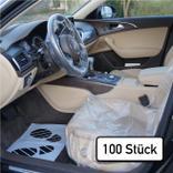 Einweg-Fahrzeugschutz-Artikel Set für PKW - 3 in 1 Produktbild