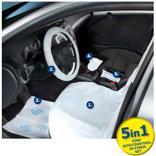 Einweg-Fahrzeugschutz-Artikel Set für PKW, CARE KIT- 5 in 1 Produktbild