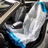 Einweg-Schutzbezug - OPTIFIT® - Weiss/Blau - VE = 250 Stück Produktbild