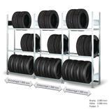 Räderregal - Komplettangebot - 3 Felder mit je 3 Lagerebenen Produktbild