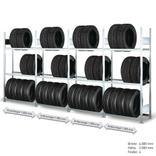 Räderregal - Komplettangebot - 4 Felder mit je 3 Lagerebenen Produktbild