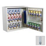 Schlüsselschrank mit Elektronikschloss und 25, 50 oder 100 langen Haken Produktbild