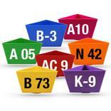 """Leitzahlenträger """"Alpha-Numero"""" - mit Magnethaftung - 12 Farben Produktbild"""