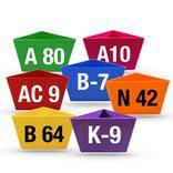 """Leitzahlenträger """"Alpha-Numero"""" - ohne Magnet - 12 Farben Produktbild"""
