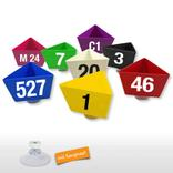 "Leitzahlenträger ""Numero"" - mit Saugnapf - 12 Farben Produktbild"