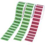 Etiketten zur Qualitätssicherung - verschiedene Versionen Produktbild