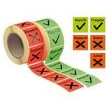 QS-Etiketten auf Rolle - verschiedene Versionen Produktbild