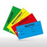QS-Etiketten mit Lochung - verschiedene Versionen Produktbild