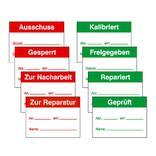 QS-Etiketten für Kennzeichnung, verschiedene Textmotive Produktbild