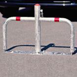 Parkbügel Sperrbügel aus feuerverzinktem Stahl, mit Profilzylinder Produktbild