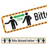 Bodenmarkierung - Wartebereich - Bitte Abstand halten! - mit Antirutschbelag Produktbild
