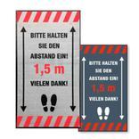 "Schmutzfangmatte - ""Bitte Abstand halten"" - Hochformat - 2 Farben Produktbild"
