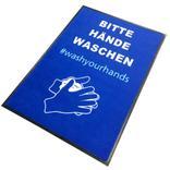 """Schmutzfangmatte - """"Bitte Hände waschen - washyourhands"""" - Hochformat Produktbild"""