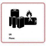 Transportaufkleber Batterie - 2 Sorten (UN und UN/Phone) Produktbild