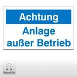 Maschinenhinweisschilder -  Achtung Anlage außer Betrieb Produktbild