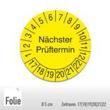 Prüfplakette für Anlagen und Maschinen - Größe Ø 5,0 cm Produktbild