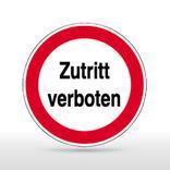 Hinweisschild - Zutritt verboten Produktbild