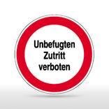 Hinweisschild - Unbefugten Zutritt verboten Produktbild