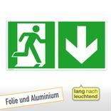 Fluchtwegschild - Notausgang rechts mit Zusatzzeichen Produktbild