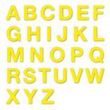 Stanzbuchstaben Großbuchstaben A-Z - Folie Gelb - Höhe 25-100 mm Produktbild