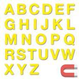Stanzbuchstaben Großbuchstaben A-Z - magnetisch - Gelb - Höhe 50-100 mm Produktbild