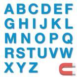 Stanzbuchstaben Großbuchstaben A-Z - magnetisch - Blau - Höhe 50-100 mm Produktbild