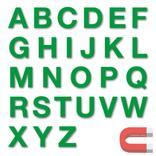 Stanzbuchstaben Großbuchstaben A-Z - magnetisch - Grün - Höhe 50-100 mm Produktbild