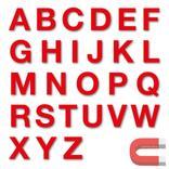Stanzbuchstaben Großbuchstaben A-Z - magnetisch - Rot - Höhe 50-100 mm Produktbild