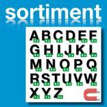 Sortiment Stanz-Großbuchstaben A-Z - magnetisch - Schwarz - Höhe 50-100 mm Produktbild
