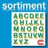 Sortiment Stanz-Großbuchstaben A-Z - magnetisch - Grün - Höhe 50-100 mm Produktbild