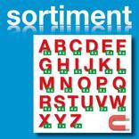 Sortiment Stanz-Großbuchstaben A-Z - magnetisch - Rot - Höhe 50-100 mm Produktbild