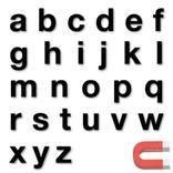 Stanzbuchstaben Kleinbuchstaben a-z - magnetisch - Schwarz - Höhe 50-100 mm Produktbild
