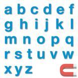 Stanzbuchstaben Kleinbuchstaben a-z - magnetisch - Blau - Höhe 50-100 mm Produktbild