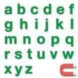 Stanzbuchstaben Kleinbuchstaben a-z - magnetisch - Grün - Höhe 50-100 mm Produktbild