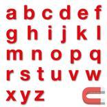 Stanzbuchstaben Kleinbuchstaben a-z - magnetisch - Rot - Höhe 50-100 mm Produktbild