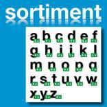Sortiment Folien-Stanzbuchstaben Kleinbuchstaben - Schwarz - Höhe 25-100 Produktbild