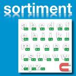 Sortiment Stanz-Kleinbuchstaben a-z - magnetisch - Weiss - Höhe 50-100 mm Produktbild